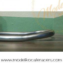 Curva Subchasis Inclinación tubo hierro 25x1.5 - Entre centros 230 mm