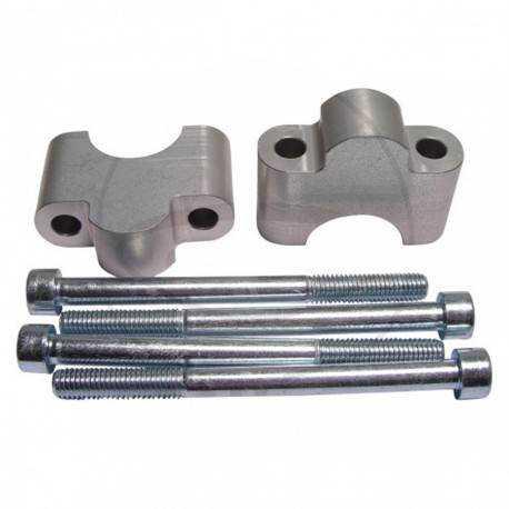 Elevador de 30 mm Plateado para manillar de Ø28 mm