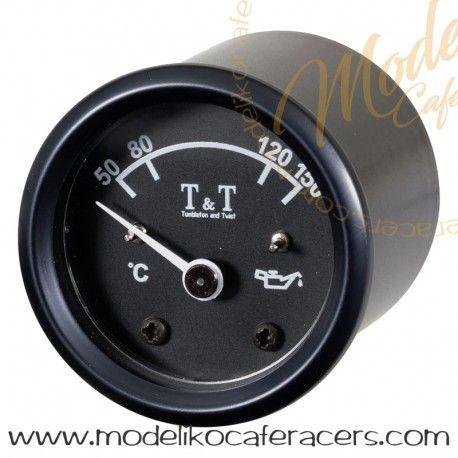 Reloj Temperatura Aceite T&T - 48 mm - Negro