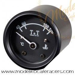Reloj Temperatura Agua T&T - 48 mm - Negro