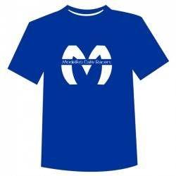 Camiseta Azul, estamp. Modeliko Blanco