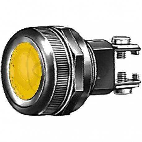 Luz de control conexión tornillo color Amarillo