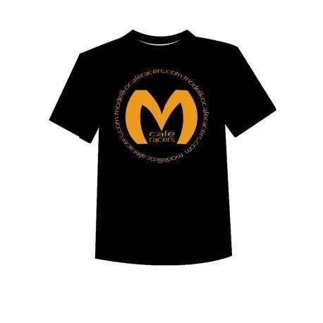 Camiseta Negra, estamp. Modeliko CIrcle