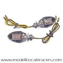 Juego Intermitentes LED JMT Mod. Mini-1 Negro-Cristal