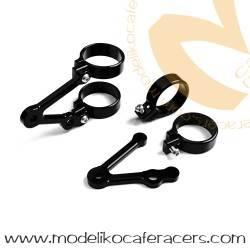 Soporte Faro LSL Aluminio Corto Negro