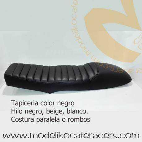 Asiento Biplaza Largo para BMW Serie K con encaje bastidor Negro
